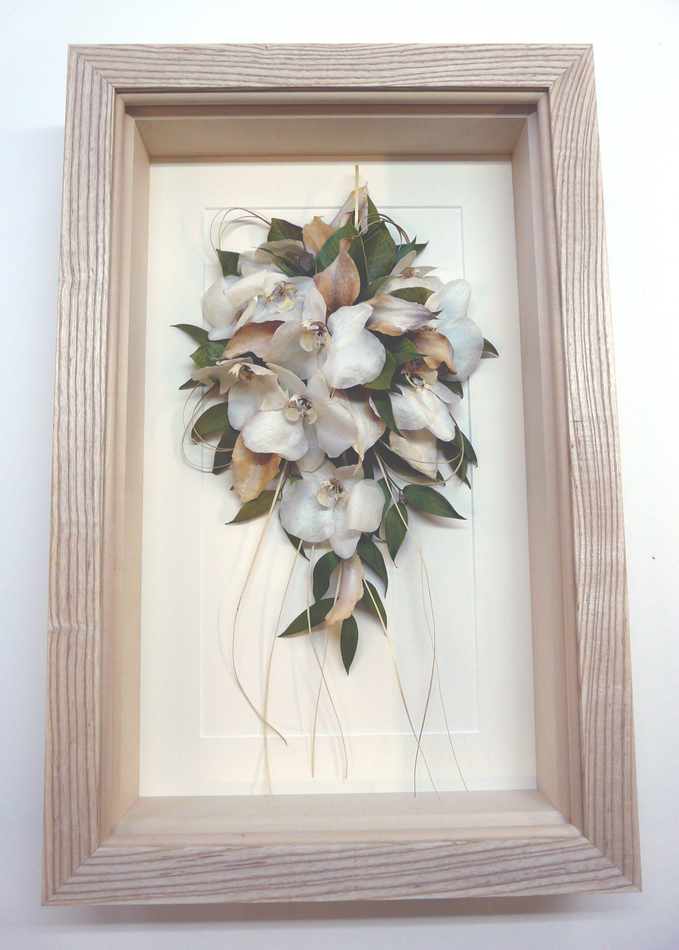 Wedding Flowers Pressed Framed: Floral art from real pressed flowers ...